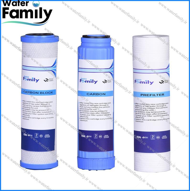 ست فیلتر تصفیه آب aqua family